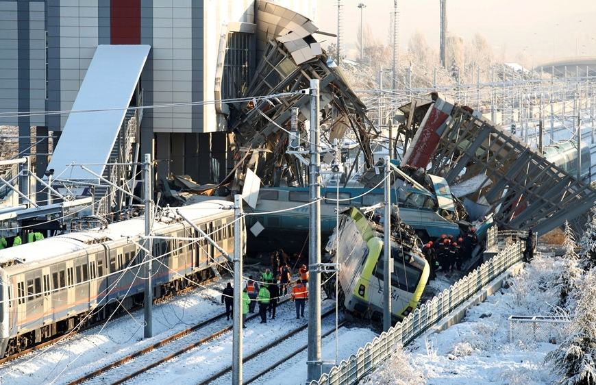 Ankara Train Crash December 12 2018, killing 9 people