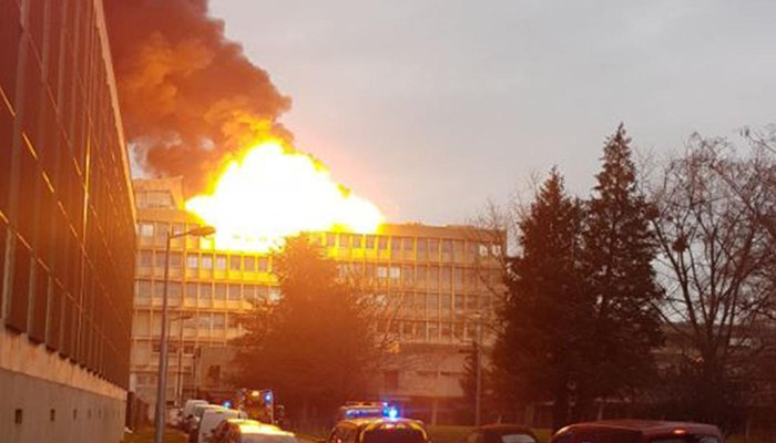 Lyon University suffers a gas explosion