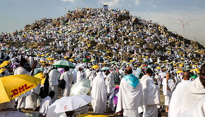 Two million Hajj pilgrims arrive at Arafat as the ritual begins Hajj 2019 Live!